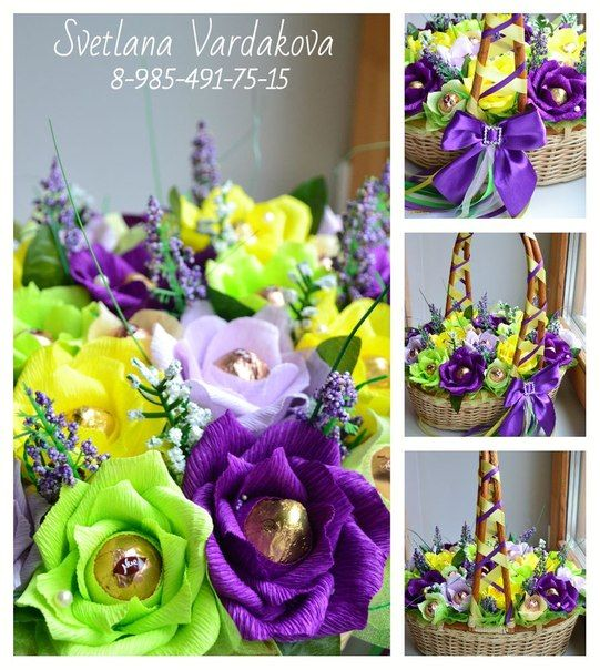 Best 253 Bouquet Chocolate Flowers images on Pinterest | Paper ...