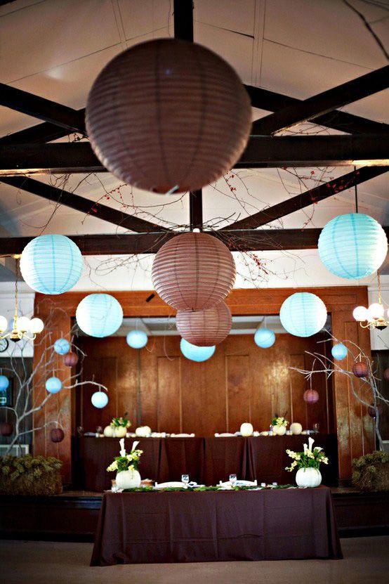 Lanterne choco , decoration lanterne choco , deco lanterne chocolat