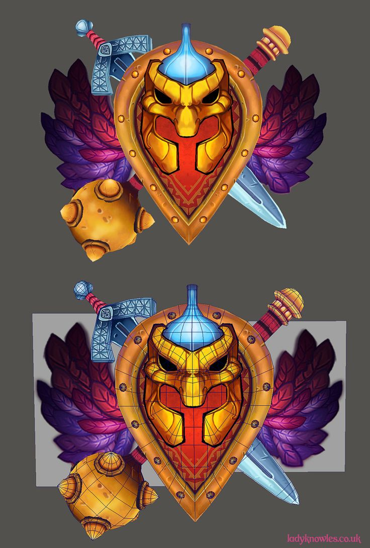 ArtStation - Handpainted Shield, Emma Smith
