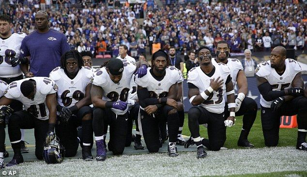 Scores of NFL stars kneel in defiance of Trump | Daily Mail Online