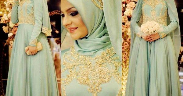 Tesettür Nişanlık Elbise Modelleri
