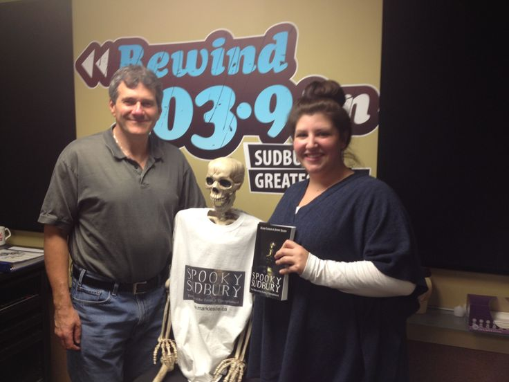 Scott & Audra in the Morning on Rewind 103.9 FM (Sudbury) had Mark (and Barnaby) in studio on Oct 28th from 8 AM to 9 AM to share spooky stories