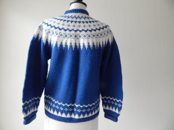 Norsk Håndstrikk a.s sweater 1960s wool knit by RockThatFrock