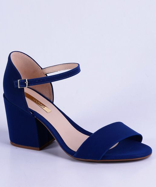 c6aa89270f Image_Sandália Feminina Salto Alto Moleca 5417105 Sapato Feminino Azul, Sapato  Feminino Salto Baixo, Sandalia
