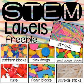Organize your STEM or STEAM center with these free labels! And yes the labels have real photographs. Dont see a label for something you have in your center? No worries! I included an editable file so you can create your own too!