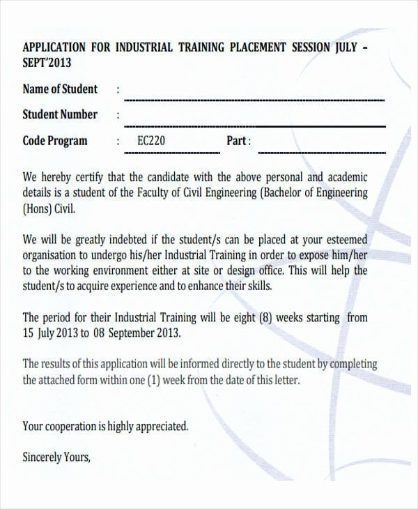 155b11746e1bf9a720b7dfc406d8b4ff - Application For Industrial Training Placement
