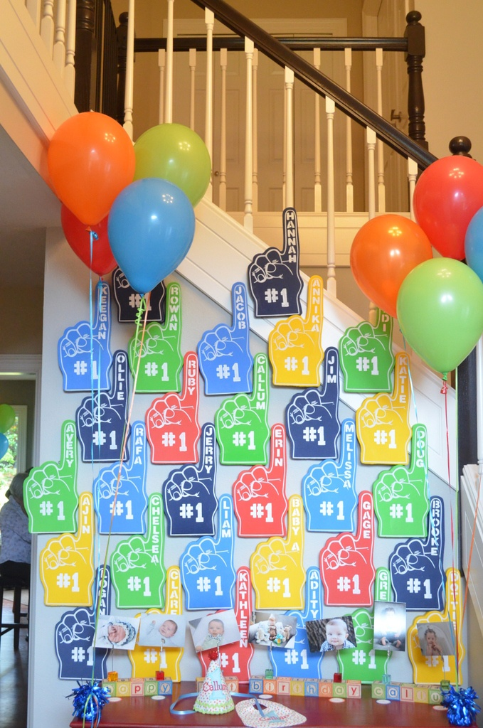 Personalized 1 Foam Finger Party Favors For A First Birthday