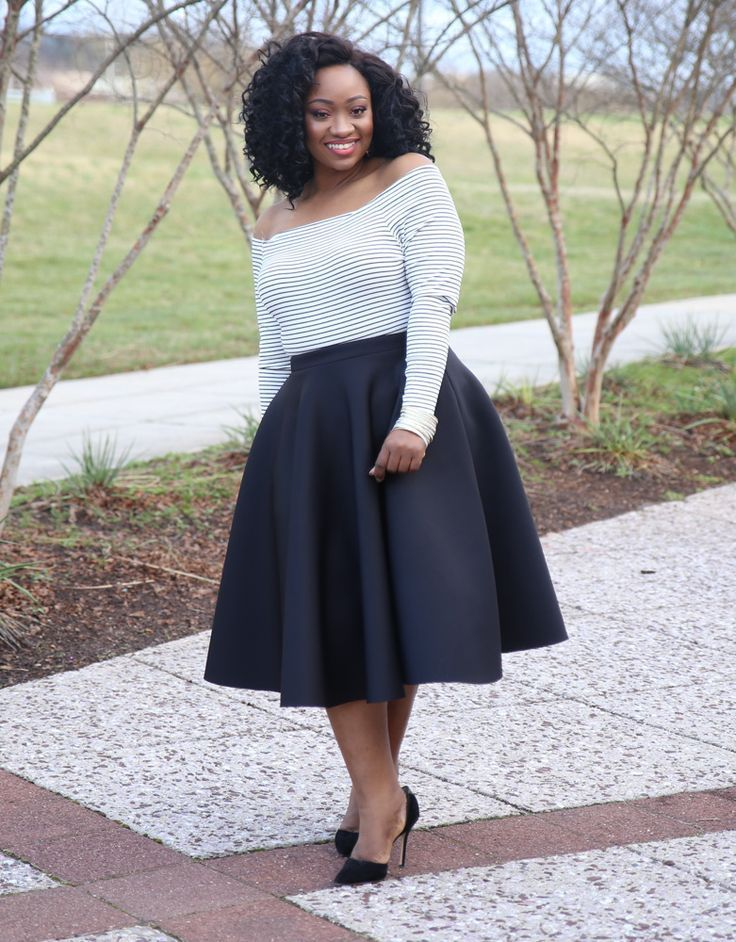 Circle Midi Skirt $39.90 |  Flirty and flounced, this plus size midi skirt boasts a circle silhouette set to dance the night away. Style with a metallic-detailed top and strappy sandals for a wow-worthy holiday look.