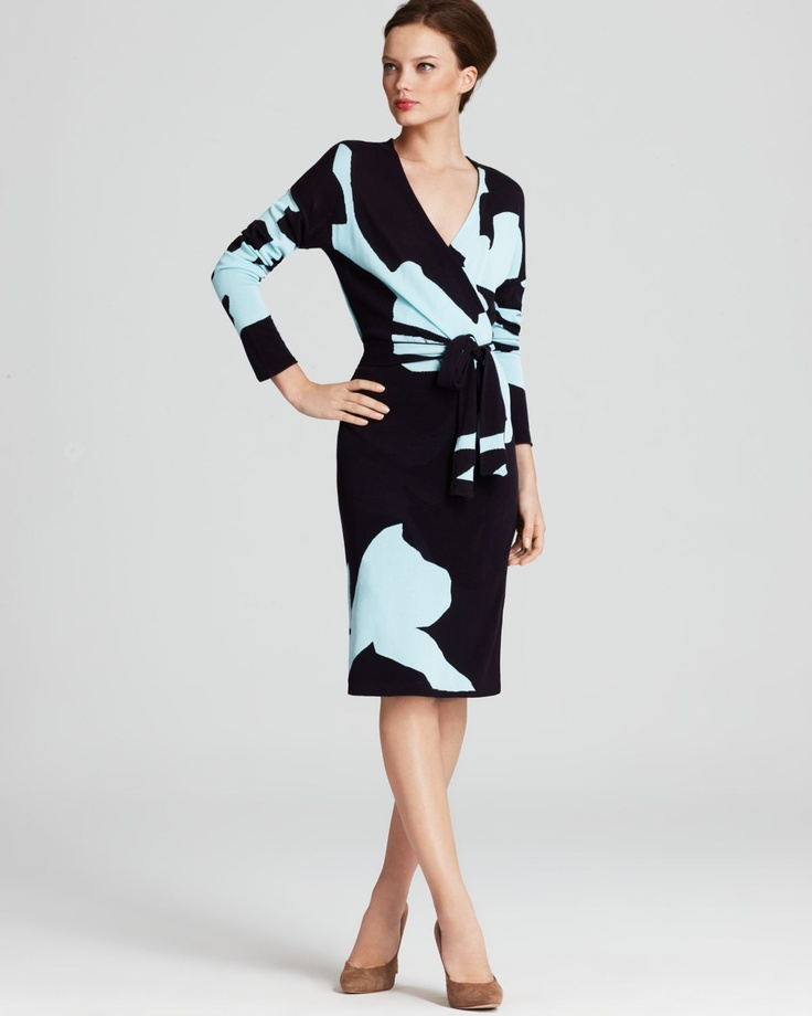 DIANE von FURSTENBERG Dress - Kinaya Intarsia Wrap Sweater