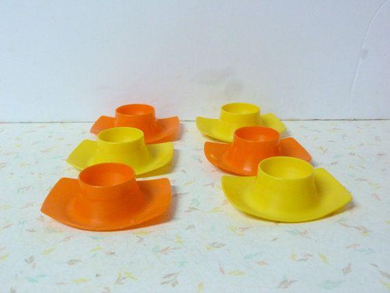 Vintage 1970's Mid Century Modern Egg Cups West by RavishingRetro