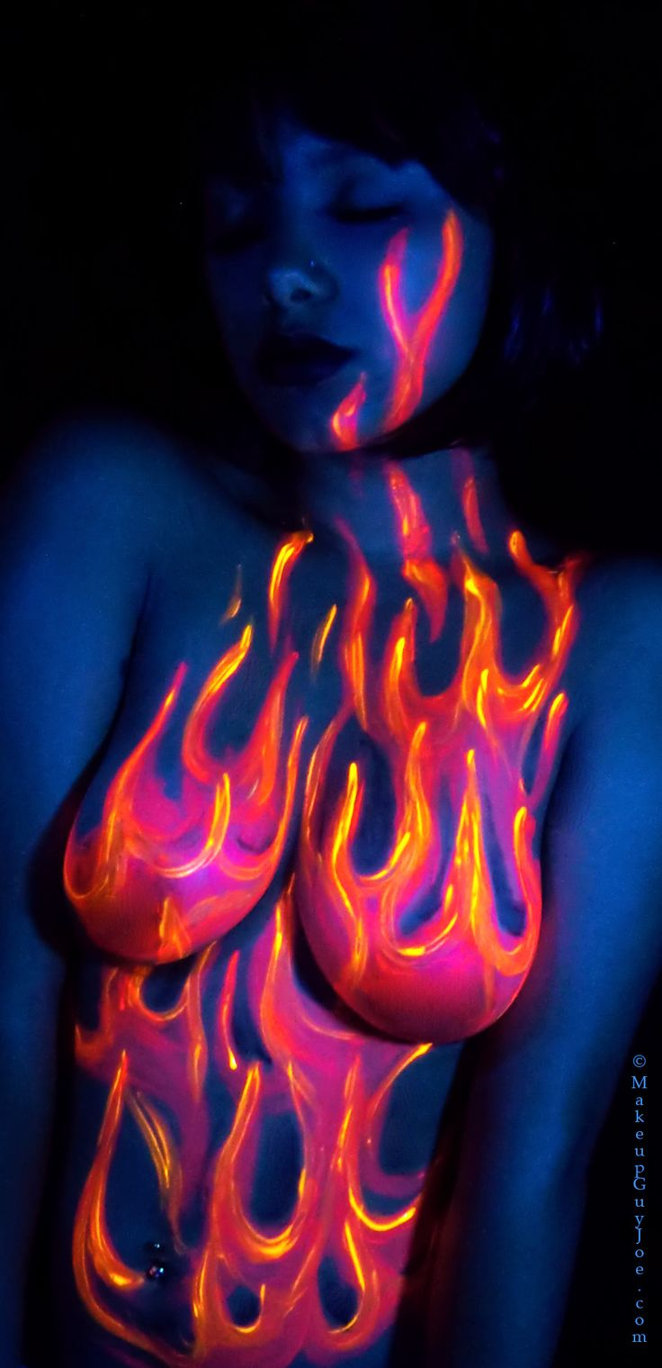 Blacklight Bodypaint By Makeupguyjoe With Model Isabella