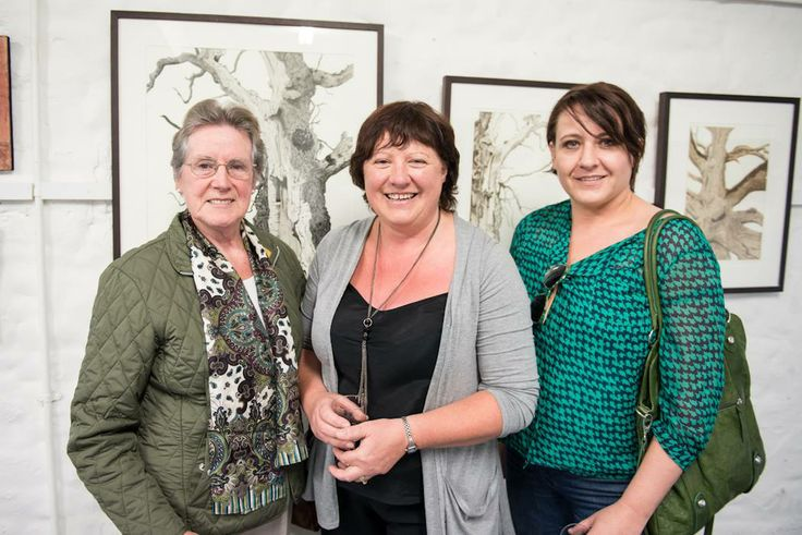 Artist Rosemarie Langtry (middle) at the group show of Abbey Road Artists' Studios