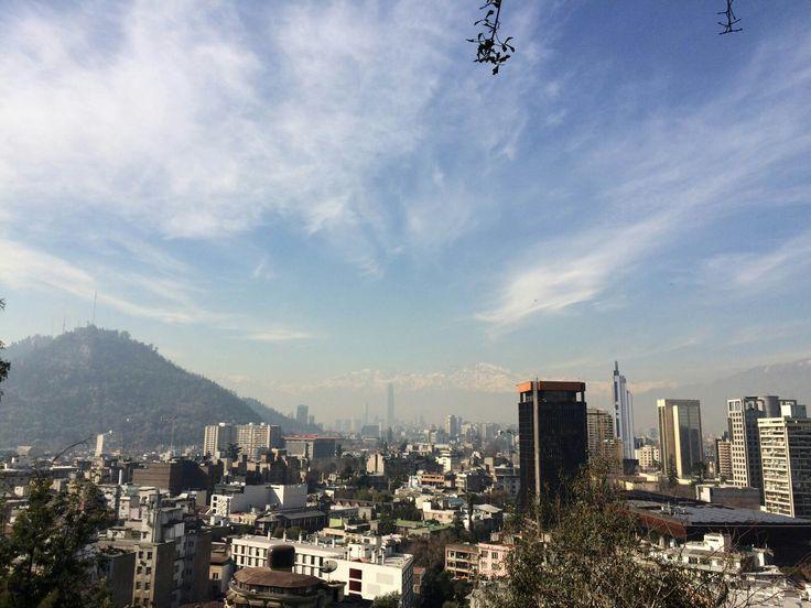 Vista desde el cerro santa lucia