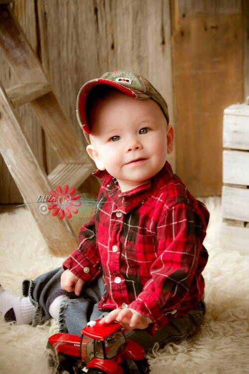 Baby flannel! And that hat! Too cute.