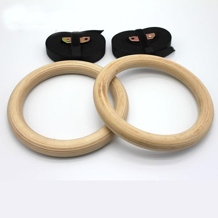 Nowe Drewniane 28mm Pierścienie Gimnastyczne Ćwiczenia Gimnastyczne Ćwiczenia Fitness Crossfit Pull Up Mięśni Ups