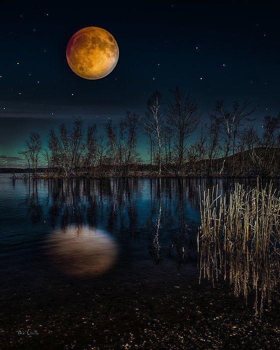 original landscape moon night - photo #39