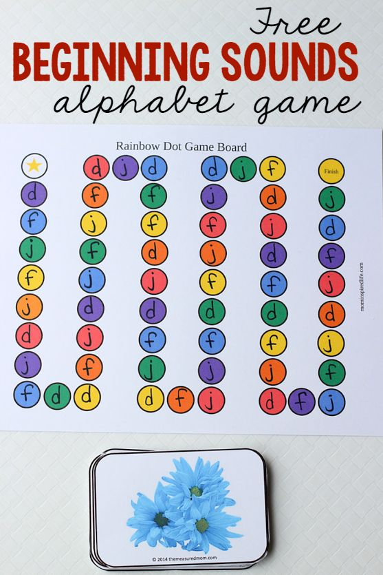 Free Letter Sounds Alphabet Game with Picture Cards from Mom Inspired Life and The Measured Mom