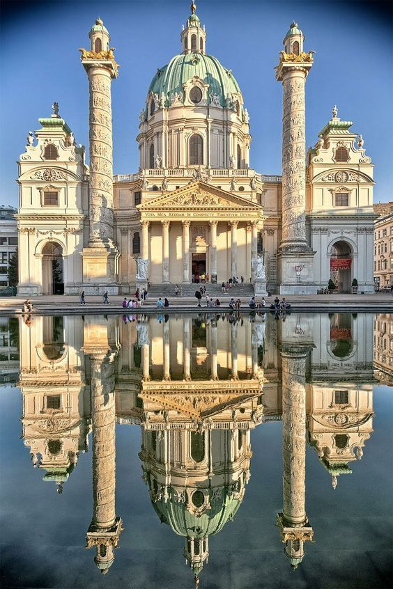 Karl's Kirche in Vienna, Austria. Re-pinned for you by #EuropassEurope.