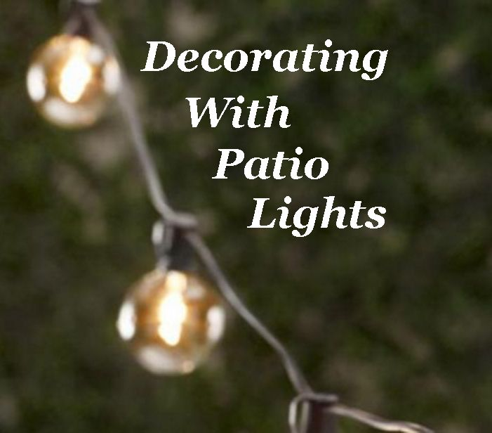 9 Ways to decorate your outdoor spaces with patio lights. www.TheHoneycombHome.com