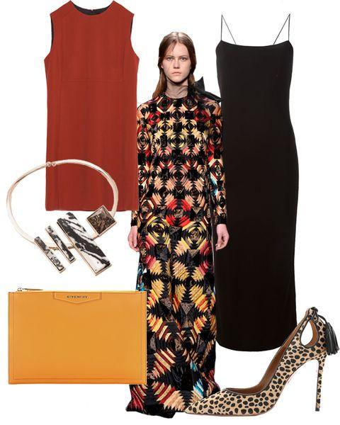 Inspired by Valentino: Red + Orange + Black