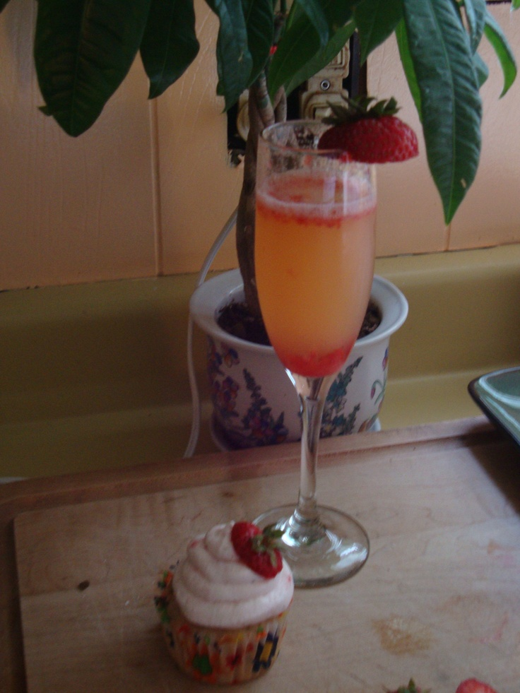 ... duo! Strawberry Champagne cupcake with a strawberry orange mimosa