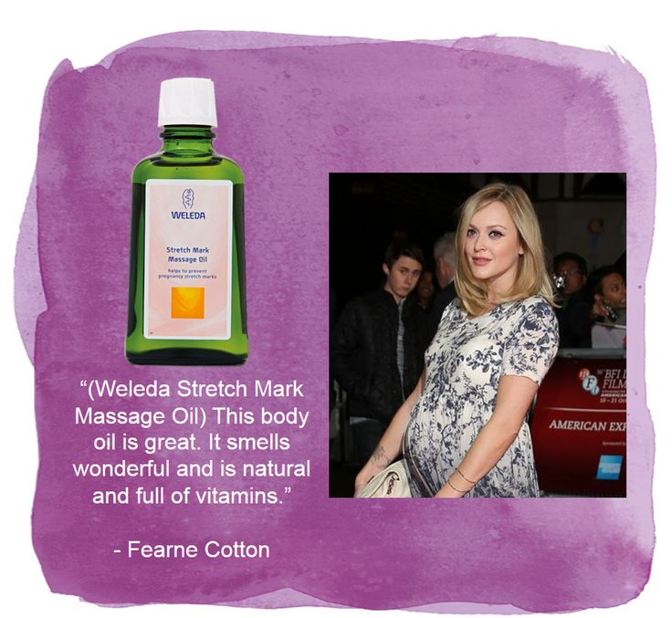 Fearne Cotton used Weleda stretch mark oil while she was pregnant - this is how I found my love of using oils in skincare.