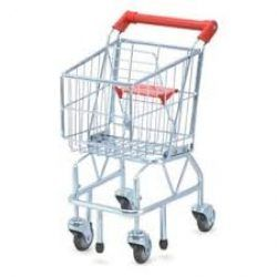 This kids shopping trolley is robust and sturdy. it won't fall over easily and it looks so trendy you won't feel embarrassed if your child brings it to the grocery shop next time you go shopping!