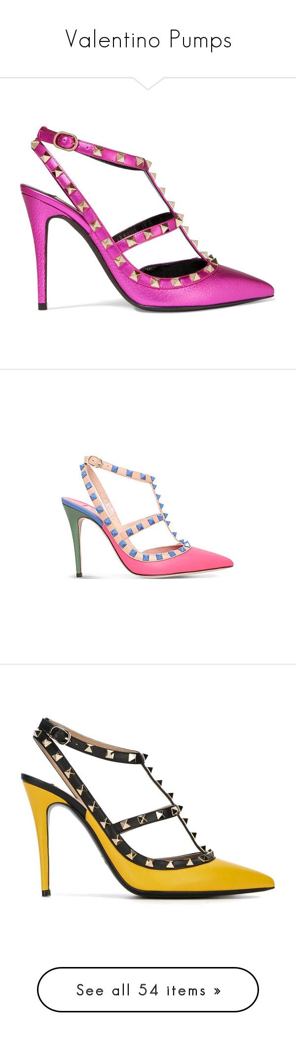 """Valentino Pumps"" by thedanishroyal on Polyvore featuring Pumps, shoes, valentino, pumps, heels, fuchsia, strappy high heel shoes, fuschia pumps, fuchsia pumps und fuschia shoes"