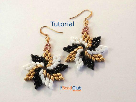 MiniDuo Earrings Pattern Beading Pattern von TheBeadClubLounge