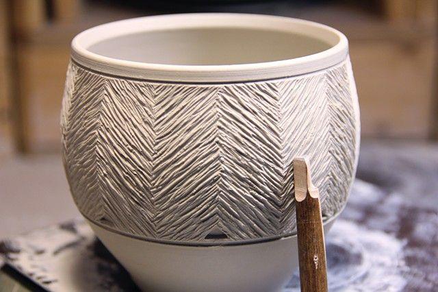 Alex Thullen Ceramics - Stamping