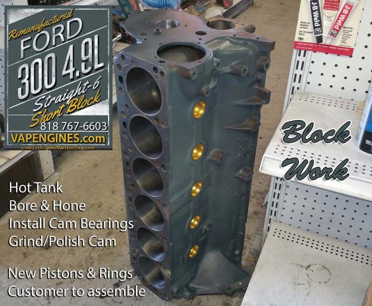 ford 300 4 9l l6 block work engine rebuilding. Black Bedroom Furniture Sets. Home Design Ideas