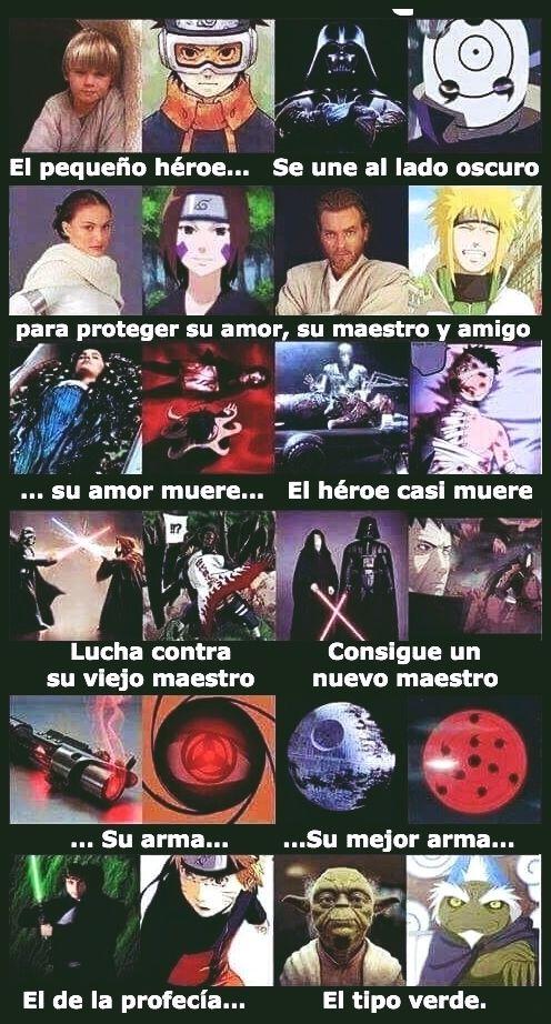Otros - ¿Coincidencia entre Naruto y Star Wars? ¡Yo no creo!