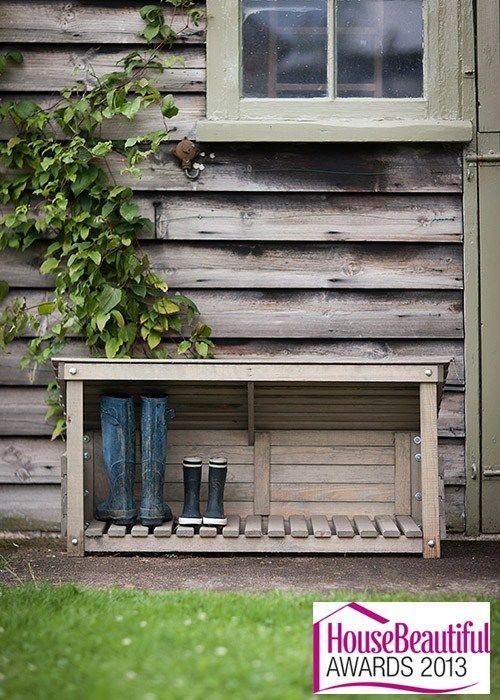 Wooden Boot Storage at Garden Trading