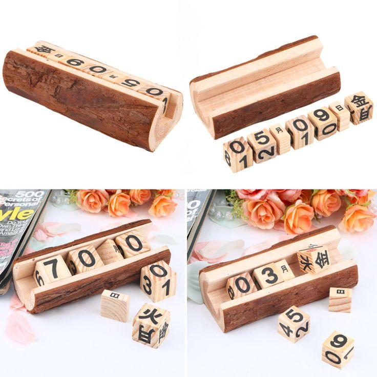 New Vintage Drewna Drewniany Blok Instrukcja Wieczny Kalendarz Biurko Dwóch Rozmiarach w magazynie(China (Mainland))