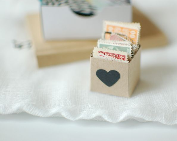 tiny boxes with hearts // Hooray blog: Little Boxes, Gifts Creative, Heart Art, Diy Gifts, Handmade Gifts, Gifts Diy, Hooray Blog, Paper Boxes, Stamps Boxes