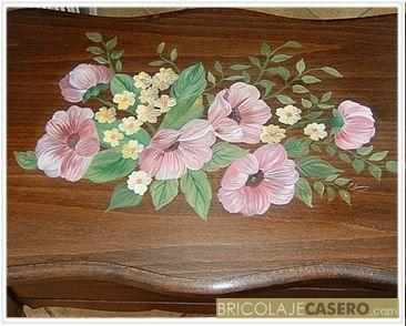 Pintura decorativa sobre madera pintura sobre madera - Pinturas de madera ...