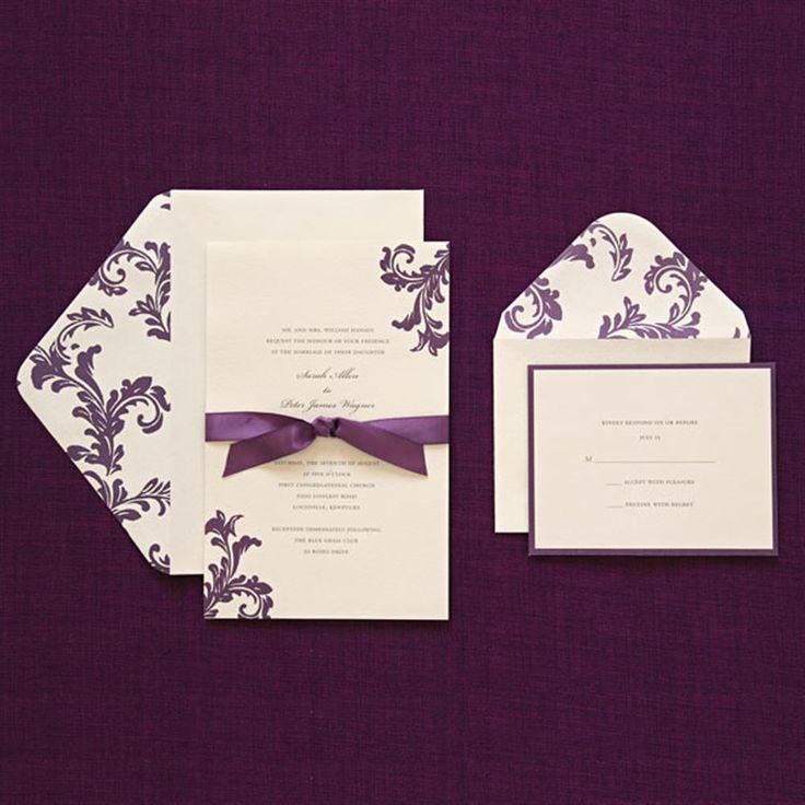 Brides Purple Invitation Kit (Case of 40) (Brides Purple Invitation)