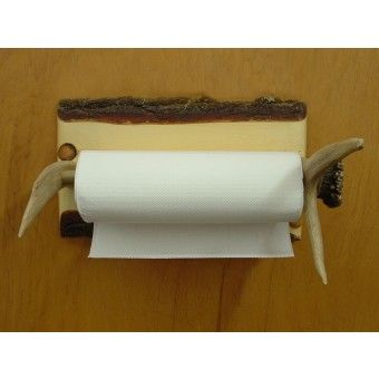 Horizontal Antler Paper Towel Holder | Cabin & Hunting Decor | Antler Decor