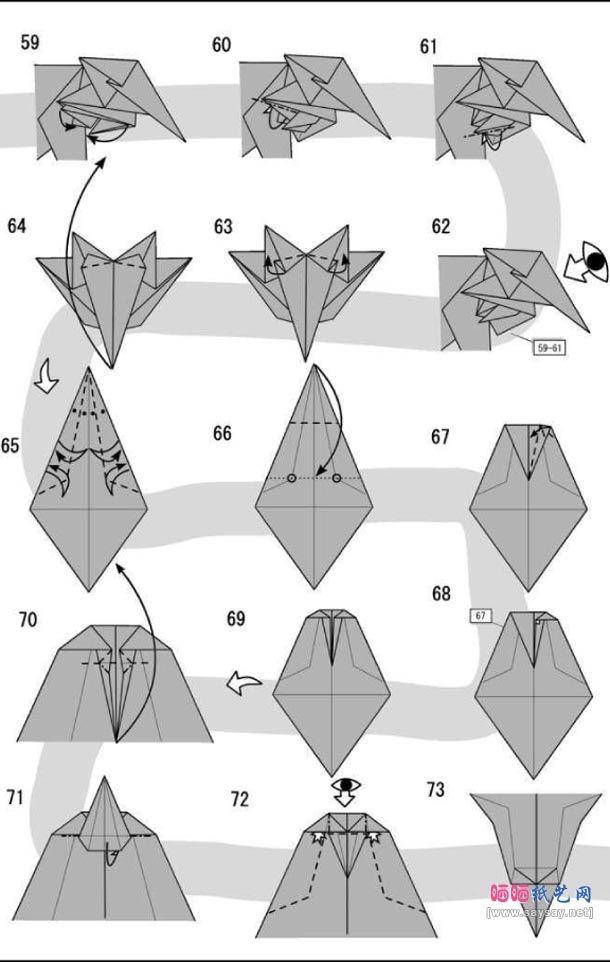 Lion Origamiorigami Lion Instructionsorigami Lion Diagramorigami