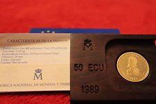 50 ECU  FELIPE II  1989  ++++++ 1/2 onza oro +++++ half gold ounce +++