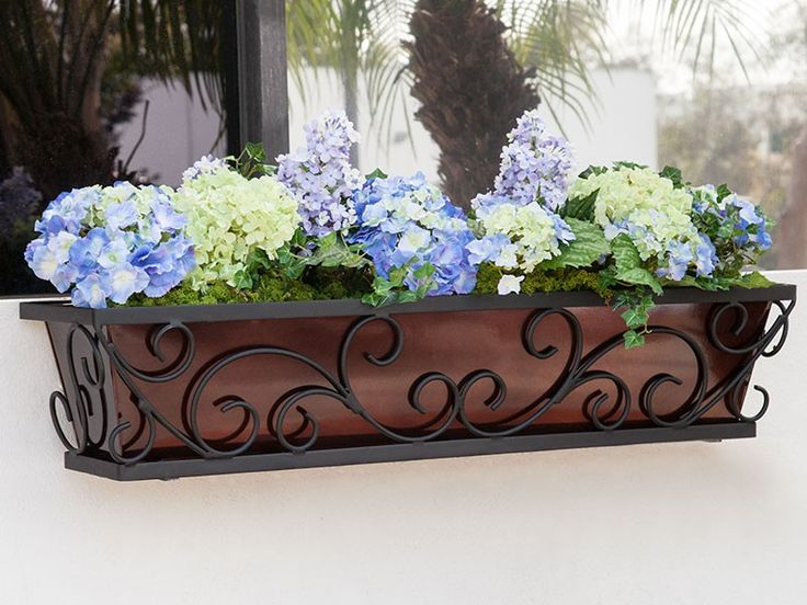 The Regalia Black Wrought Iron Window Bo Are Perfect For Gardening On Balconies Under Windows