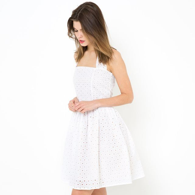 Robe dos nu, broderie anglaise MADEMOISELLE R