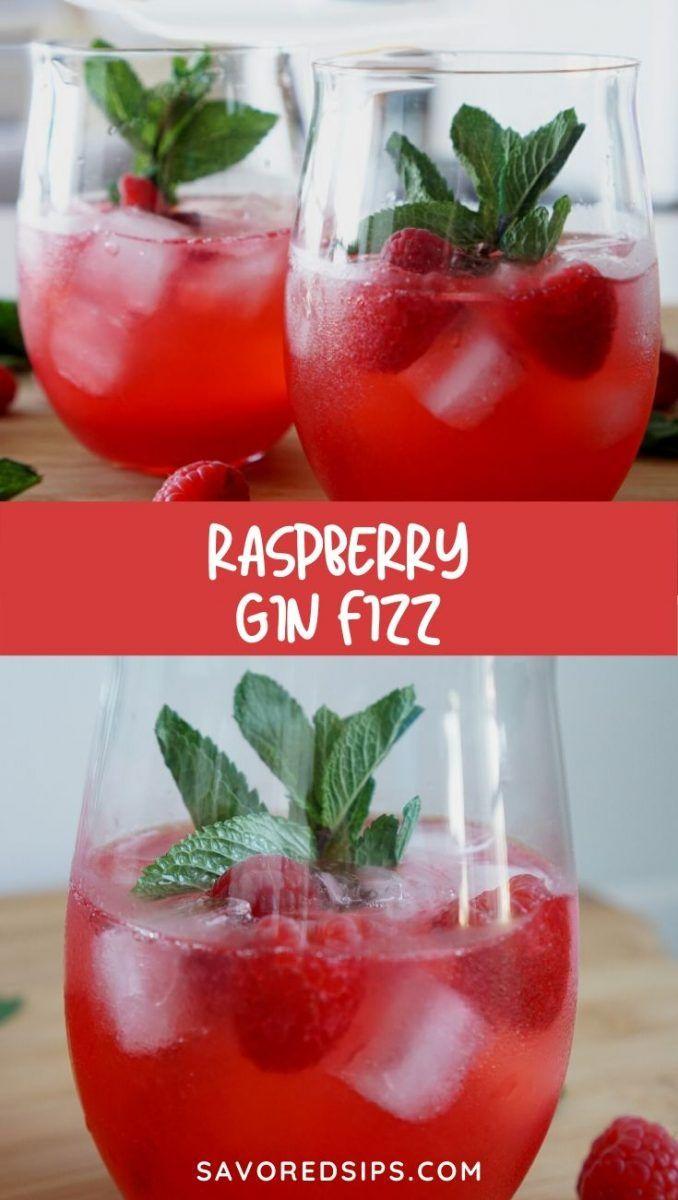 Raspberry Gin Fizz Recipe Raspberry Gin Gin Recipes Cocktail Recipes Easy