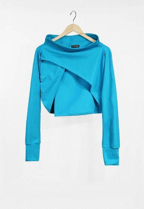 Long sleeve turquoise shrug