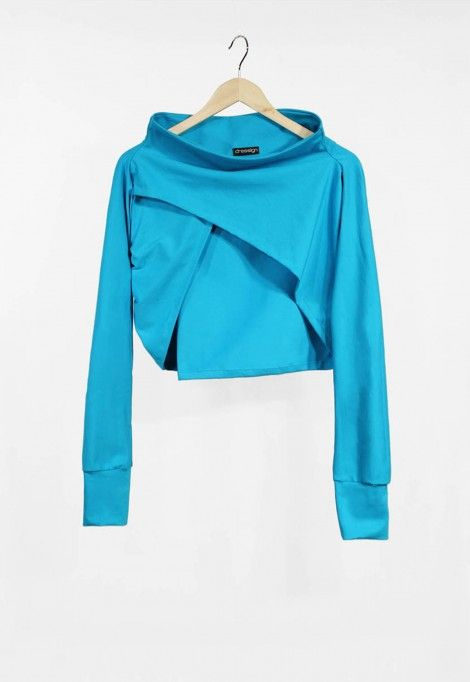 Long sleeve turquoise shrug