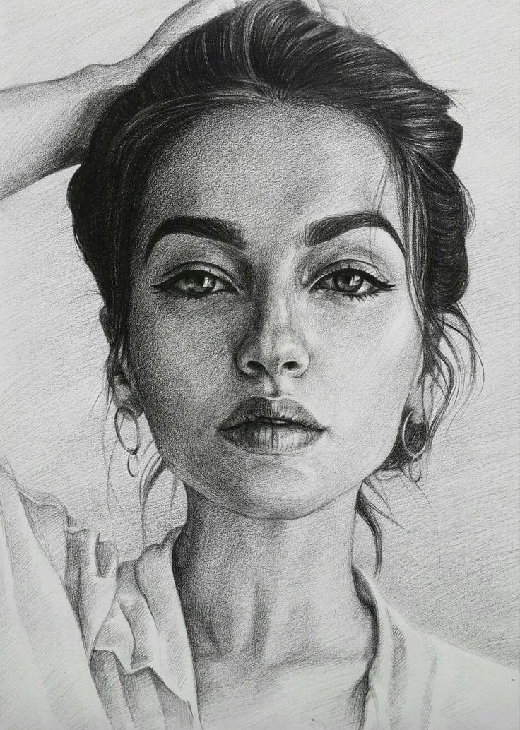 женщине картинки для рисования портреты при