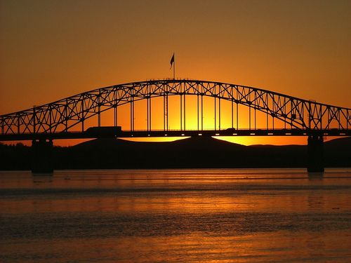 Blue Bridge - Sunset   Tri Cities Washington!
