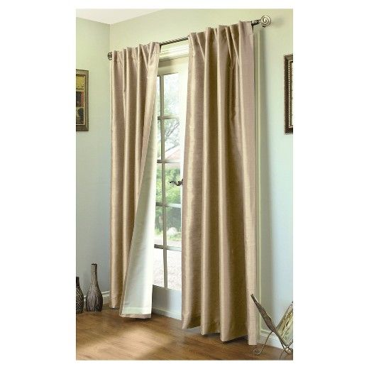 Thermalogic Ming Lined Back Tab/Pocket Top Curtain Panel – Misty (104×95 )