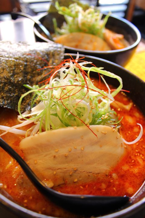 Japanese Ramen noodles in extremely spicy soup 激辛ラーメン
