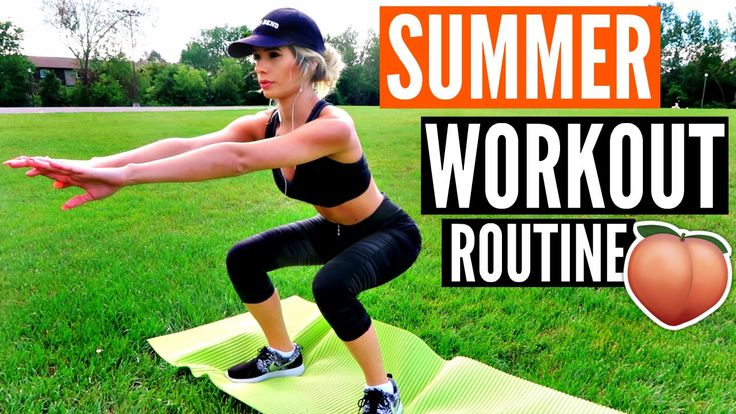 Summer WORKOUT Routine! | EASY Exercises for a BIKINI BOD (NO WEIGHTS) - YouTube
